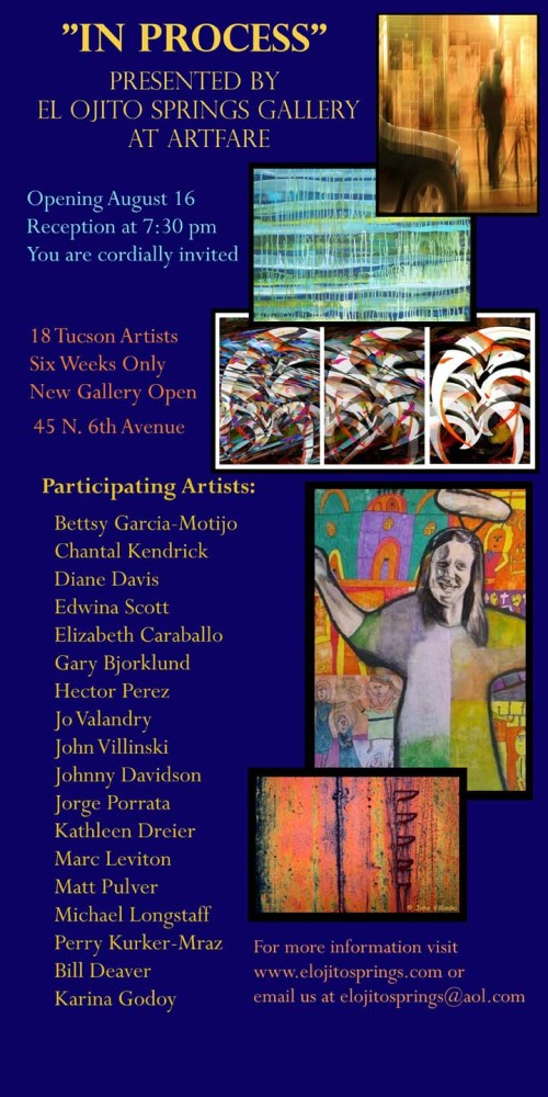 Art Exhibit, El Ojito Springs Gallery, Tucson - August 16